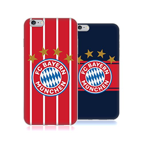 Official FC Bayern Munich 2017/18 Logo Kit Soft Gel Case for Apple iPhone 6 Plus / iPhone 6s Plus – DiZiSports Store