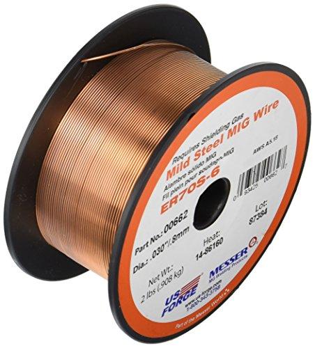 US Forge Welding Solid Mild Steel MIG Wire .030 2-Pound Spool (70s 6 Mig Wire)
