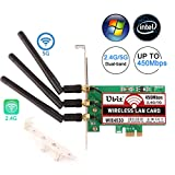 WiFi Card,Ubit 4530 Dual-Band Wireless Network Card 5GHz/2.4GHz,Wireless PCI-E Express Card,WiFi Network Adapter Card with 3PCS High Gain Antenna for Desktop/PC Gaming