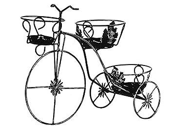 Porta vasi portavaso bicicletta in ferro battuto posti cm - Portavasi da finestra ...