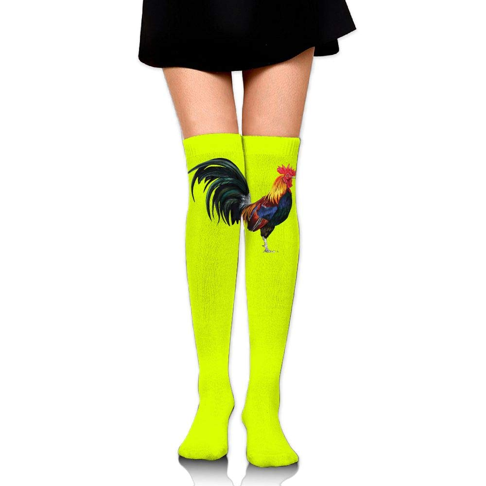 High Elasticity Girl Cotton Knee High Socks Uniform Rooster Vintage Women Tube Socks