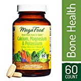 MegaFood – Calcium, Magnesium & Potassium, Promotes Healthy Bones, Muscles, Blood Pressure Levels, and Cardiovascular Health, Vegetarian, Gluten-Free, Non-GMO, 60 Tablets Review