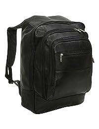 David King & Co. Oversized Laptop Backpack, Black, Checked, Medium