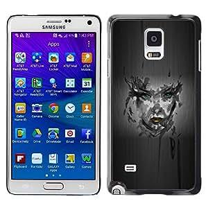 Be Good Phone Accessory // Dura Cáscara cubierta Protectora Caso Carcasa Funda de Protección para Samsung Galaxy Note 4 SM-N910 // Girl Camo Portrait