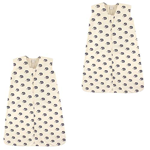 Touched by Nature Baby Organic Cotton Wearable Safe Printed Sleeping Bag, Hedgehog 2 Pack, 18-24 ()