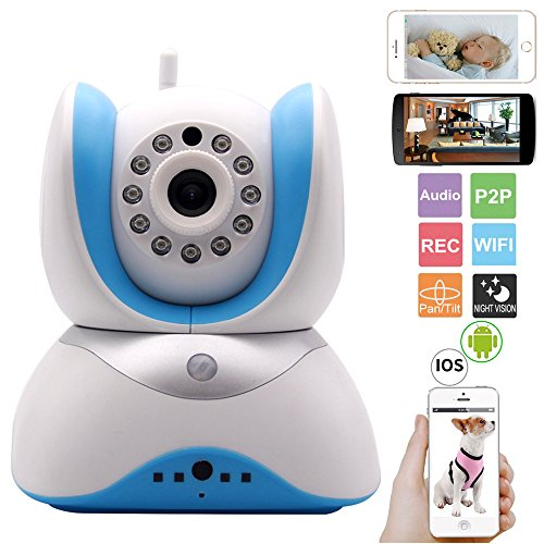 EYEKOP Baby Monitor, Wireless WiFi IP Security Camera, New PIR Motion Detection Technology, 3D Sound Two-Way Audio EYEKOP
