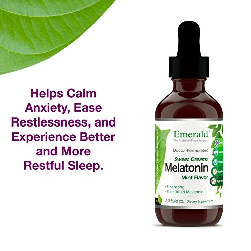 Amazon.com: Liquid Melatonin - Promotes Relaxation & Healthy Sleep Patterns, More Energy, Better Overall Health - Mint Flavor - Emerald Laboratories (Sweet ...