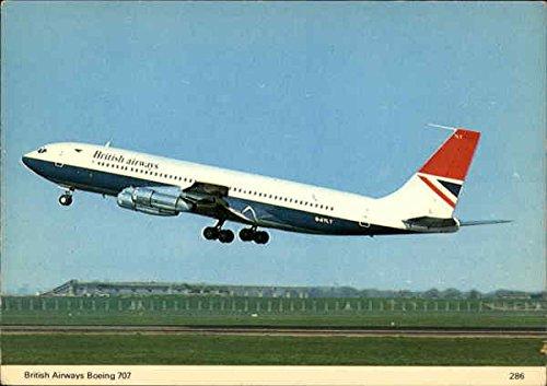 british-airways-boeing-707-aircraft-original-vintage-postcard