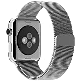 Hccolo Stainless Steel 42mm Milanese Loop Bracelet Strap Sport Bands for iWatch