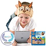 Paw Patrol Kids Headphones CozyPhones - Volume Limited Ultra-Thin Speakers & Comfortable Soft Fleece Headband - Perfect Children's Earphones School, Home Travel – Chase