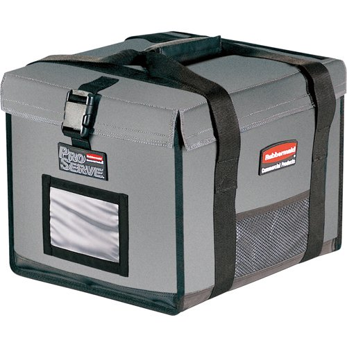 Rubbermaid Commercial Insulated Half-Size Food Pan Carrier, Gray, FG9F1500CGRAY