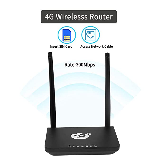 Amazon.com: Grborn - Router inalámbrico 4G WiFi LTE 300 Mbps ...