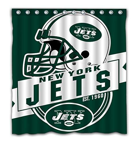 Felikey Custom New York Jets Waterproof Shower Curtain Colorful Bathroom Decor Size 66x72 ()