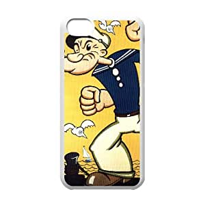 Popeye the sailor iPhone 5c Cell Phone Case White yyfabd-001376