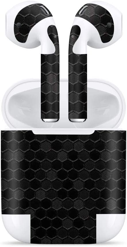 Bloom Skins for Apple AirPods 2 / AirPods 2nd Generation | Luxury Black Honeycomb Protective 3M Vinyl Skin Decal Wrap Film Premium Ultra Slim Cover Sticker with 3D Texture | Made in USA