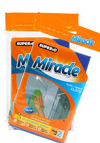 Miracle Glass Mirror Cloth 2 pack product image