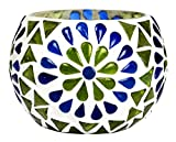 Lalhaveli Mosaic Glass Christmas Candle Holde 3 Inches