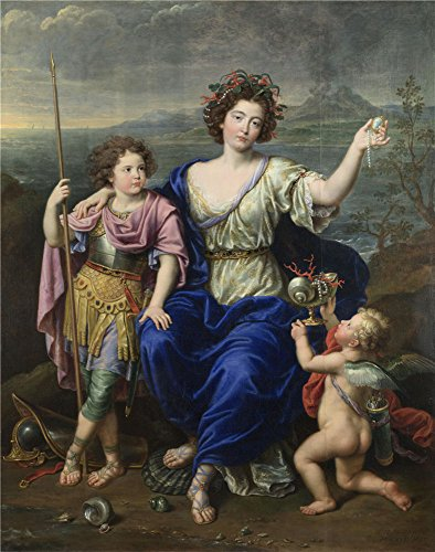 'Pierre Mignard The Marquise De Seignelay And Two Of Her Sons ' Oil Painting, 12 X 15 Inch / 30 X 39 Cm ,printed On Polyster Canvas ,this Best Price Art Decorative Prints On Canvas Is Perfectly Suitalbe For Bathroom Gallery Art And Home Decor And Gifts (Marquise Wallpaper)