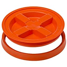Gamma Seal Lid - Orange - For 3.5 to 7 Gallon Buckets or Pails Gamma2 by Gamma Seal