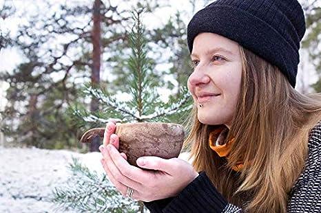 recyclebar Outdoor Cup aus biologischem Material Kaffeetasse Braun Kupilka 37