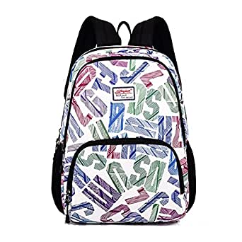 Backpack for Teens, Fashion Letter Pattern Backpack College Bags Women Daypack Travel Bag by Leaper