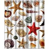 "Generic Personalized Waterproof Bath Decor Shower Curtain 60"" x 72"" - Starfish Conch Shell Style Great Design"
