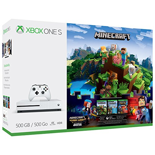 Microsoft Xbox One S 500GB Minecraft Complete Adventure Gaming Console