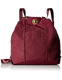 Baggallini CBP112G Mendoza Backpack - Gold Hardware, Scarlet, One Size