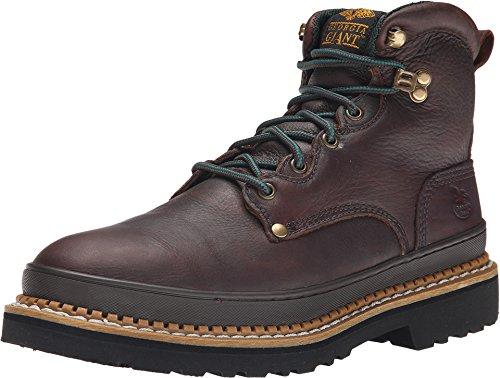 Georgia Giant 6in. Work Boot - Brown, Size 13W, Steel Toe, Model# (Repairable Goodyear Welt)