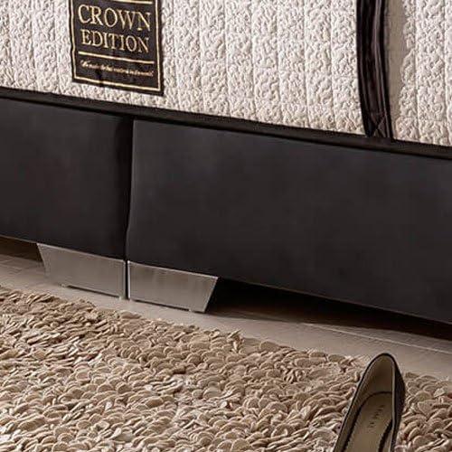 London Cama con somier Deluxe (200 x 200 cm), color negro ...