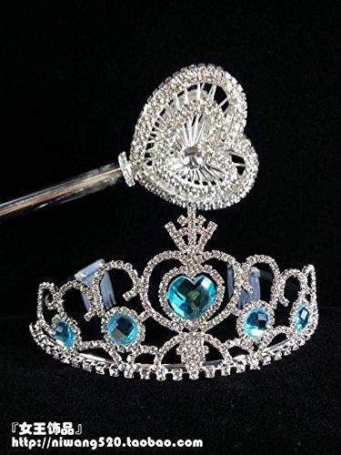 Quantity 1x Custom_ jewelry _' queen '_ Rhinestone ing _ice-edge_ queen _Aisha_love_royal_ pageant Crown Tiara Party Wedding Headband Women Bridal Princess Birthday Girl Gift _right_afterwand_kit ()