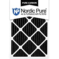 Nordic Pure 20x25x1PCP-3 20x25x1 Pure Carbon Pleated Ac Furnace Filters Qty 3