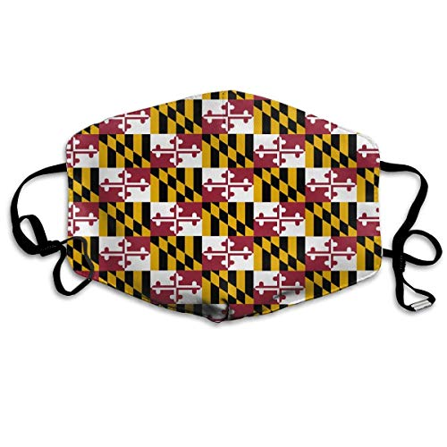 Maryland State Flag Anti-dust Mouth Mask Face Masks Mouth Cover for Man and Woman