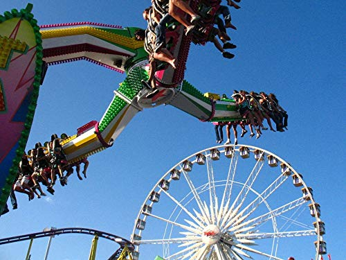 Home Comforts Canvas Print Amusement Orange Ride County Fair California Park Vivid Imagery Stretched Canvas 32 x ()