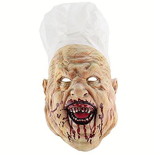 Xiao Chou Ri Ji Cosplay Scary Halloween Costume Party Props Bloody nighthide Fork Monster Mask]()
