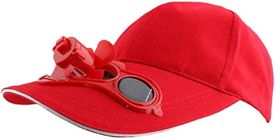 AIAIⓇ Ventile el Sombrero, Gorra de béisbol de Pesca Deportiva al Aire Libre, Gorra de Golf con Ventilador Solar, Gorra con Ventilador
