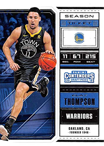 2018-19 Panini Contenders Draft Picks Basketball Season Ticket Variation #33 Klay Thompson Golden State Warriors Official NBA Trading Card