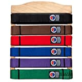 #7: Martial Arts Belt Display Wooden Wall Rack Holder for Karate Taekwondo Belts - 6 Level