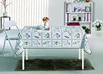 "55"" X 70"" Vinyl Tablecloth Butterfly Meadow Design Indoor/Outdoor Tablecloth with Non-Woven Backing"