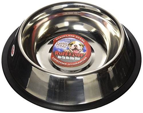 Loving Pets Standard No-Tip Dog Bowl, 64-Ounce (Tip Dish Mirror)