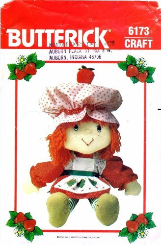 Butterick 6173 Crafts Sewing Pattern Strawberry Shortcake Doll & Clothes (Pattern Shortcake Strawberry)
