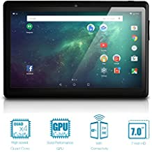 "NeuTab 7"" Quad Core Tablet PC WIFI, visualización HD 1024 x 600, Bluetooth, doble cámara, Google Play preinstalado, FCC Certified (Negro), Negro"