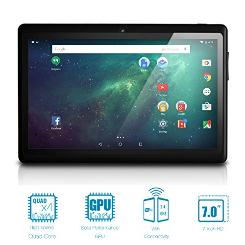 "NeuTab 7"" Quad Core WIFI Tablet PC, HD 1024X600 Display, Bluetooth, Dual Camera, Google Play Pre-loaded, FCC Certified (Black)"