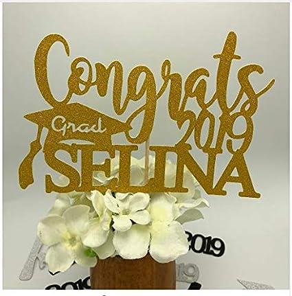 Custom Graduation Cake Topper Personalized Congrats Class of 2019 Cake Topper