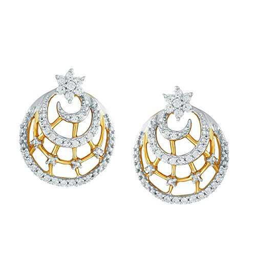 Giantti Diamant Mode Femme Boucles d'oreilles à tige (0.3688 CT, VS Clarté, Gh-colour)