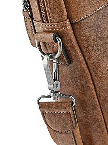 9cf3627212 ... Sacoche Porte-documents avec bandoulière homme en cuir Etrier Spider -  2 compartiments - Peut ...