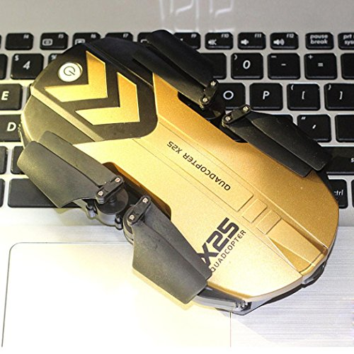 X25 Altitude Hold HD Camera 0.3MP WIFI FPV RC Quadcopter Drone Selfie Foldable Practical Dreamyth (Gold) by Dreamyth