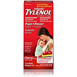 Infants' Tylenol Oral Suspension, Fever Reducer and Pain Reliever, Cherry, 2 fl oz