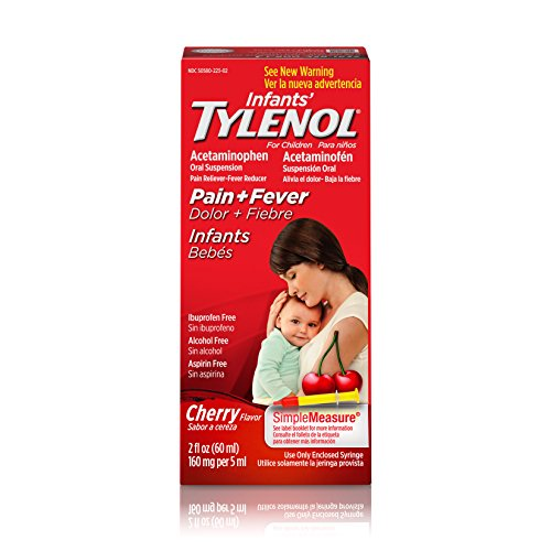 Pain Relief Suspension - Infants' Tylenol Oral Suspension, Fever Reducer and Pain Reliever, Cherry, 2 fl oz