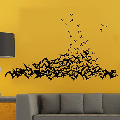 OTTATAT Wall Stickers For Kids 2019,Happy Halloween Household Room Mural Decor Decal Removable New Easy to peel Valentine's Day Children room Gift for bride Under 5 dollars]()